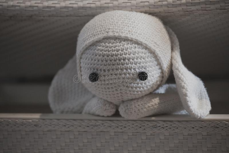Wool Toy Home interior day light stock photos