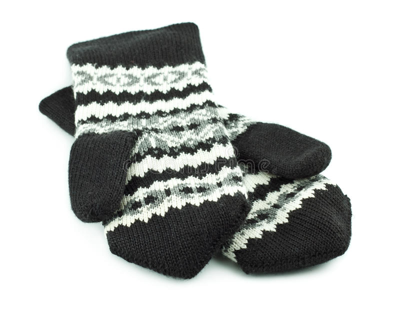 Wool Mittens stock images