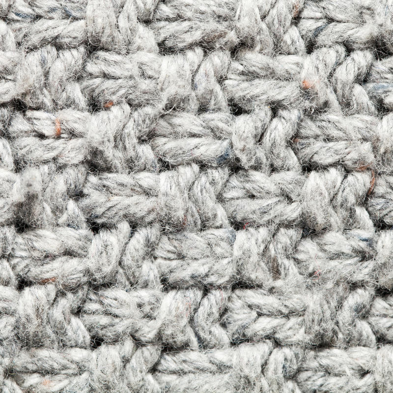 Wool pattern. Close up of a knitted wool pattern stock images