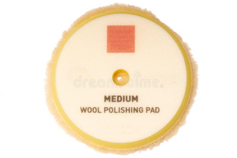 Wool polish pad with velcro backing. Automotive. Detailing. Wool polish pad with velcro backing. Automotive. Detailing royalty free stock image