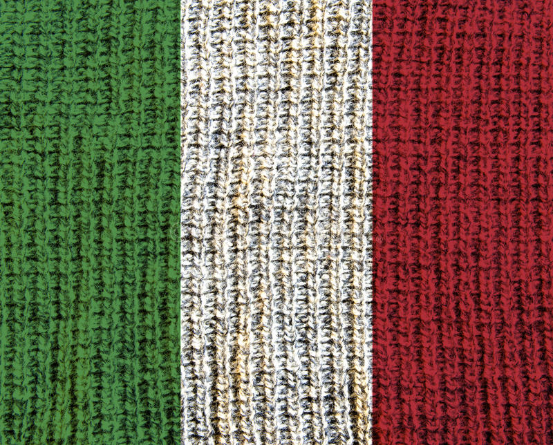Wool Textured Flag - Italy. High resolution wool textured flag of Italy royalty free stock photo
