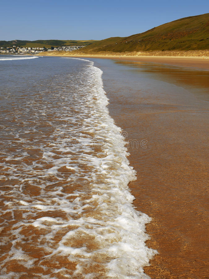 Download Woolacombe stock image. Image of countryside, sandy, cliff - 12488725