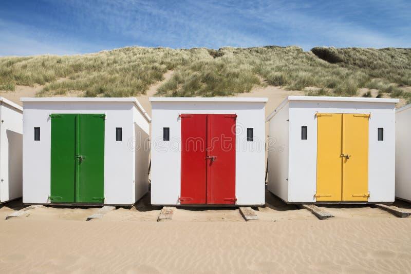 Woolacombe Beach Huts royalty free stock photos
