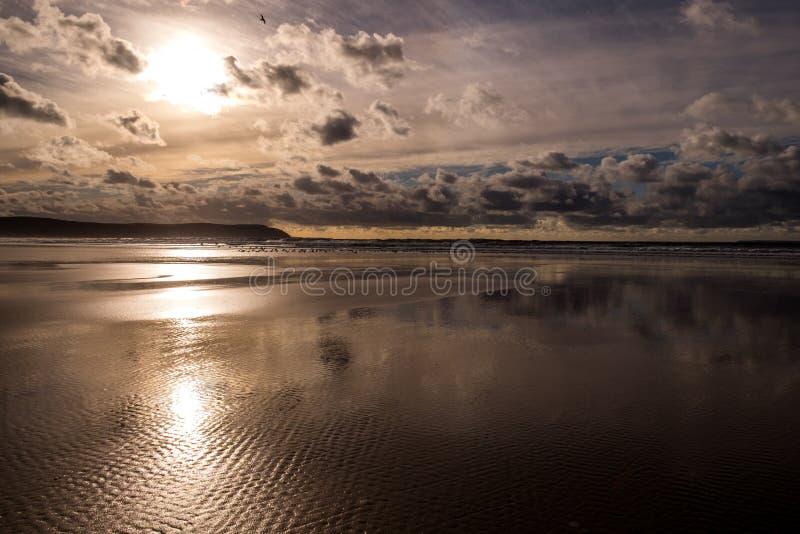 Woolacombe-Strand lizenzfreies stockfoto