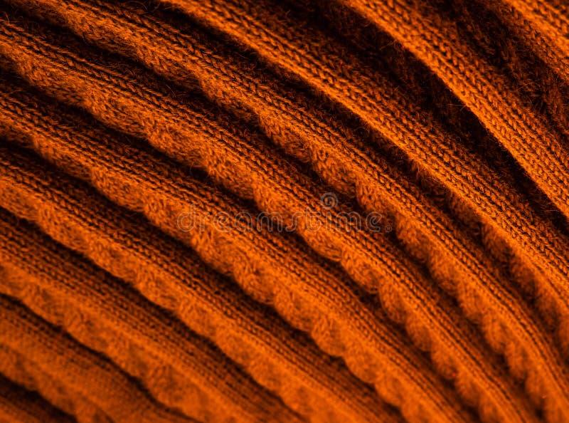 Wooled plaid, gebreide vlecht Textuur voor achtergrond royalty-vrije stock foto's