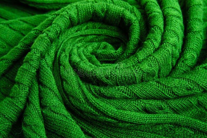 Wooled plaid, gebreide vlecht Textuur voor achtergrond royalty-vrije stock afbeeldingen