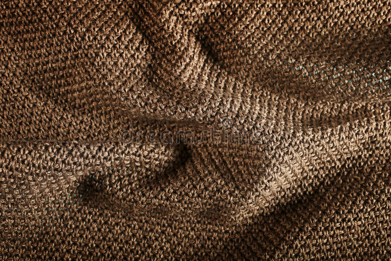 Woolen Fabric Brown Royalty Free Stock Images