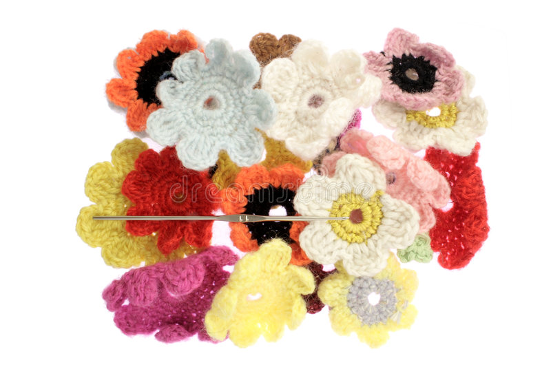 Woolen flower royalty free stock photography