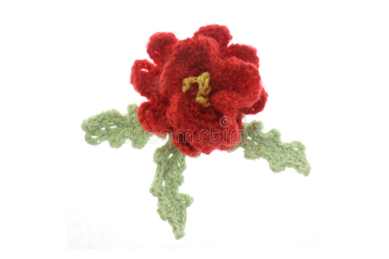 Woolen flower royalty free stock image
