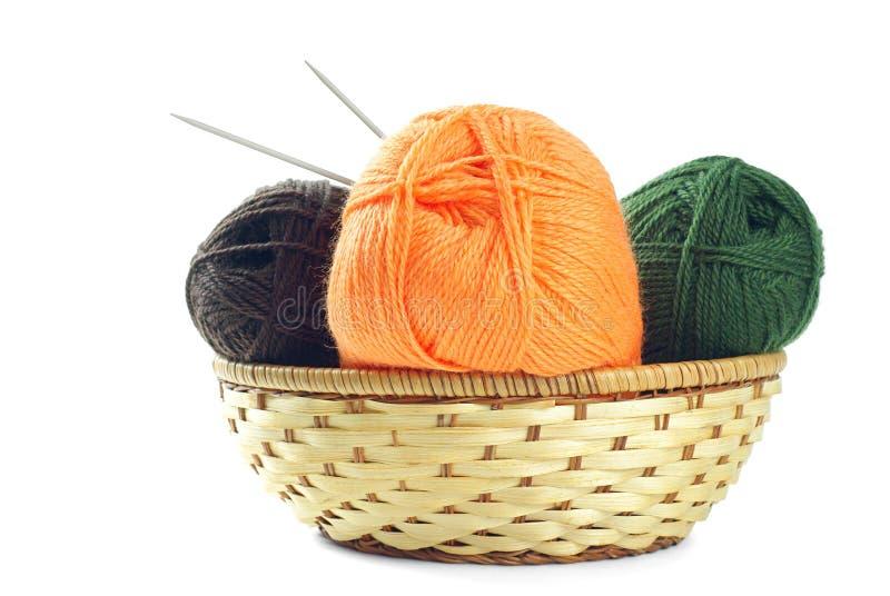 woolen garn royaltyfri foto