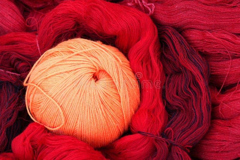 woolen garn för boll arkivfoto