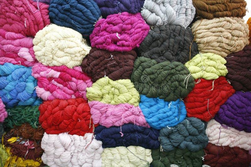 Woolen Garnhintergrund lizenzfreie stockfotografie