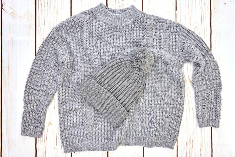 Woolen Jumper. A studio photo of a woolen jumper royalty free stock photo