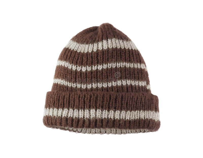 Woolen knitted hat royalty free stock images