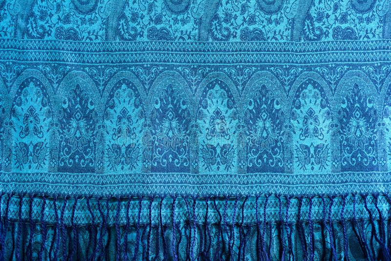 Woolen, kopierte Kaschmir Schal- oder Türkisschal mit Quasten stockbilder