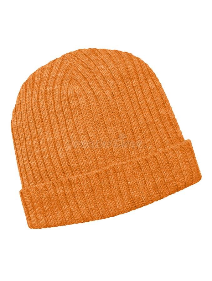 Woolen nakrętka odizolowywająca - pomarańcze fotografia royalty free