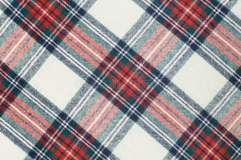 Woolen rutig tygtextur royaltyfri bild