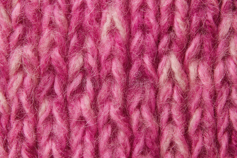 Woolen texturbakgrund, stuckit ulltyg, rosa hårigt ludd arkivbilder