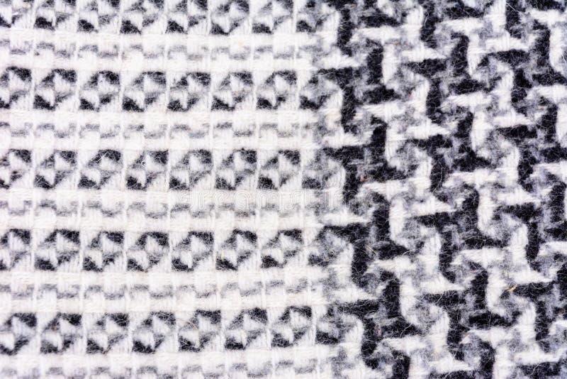 Woolen tkanina z wzorami, tekstur? i delikatnym t?em, naturaln?, pi?kn?, obraz stock