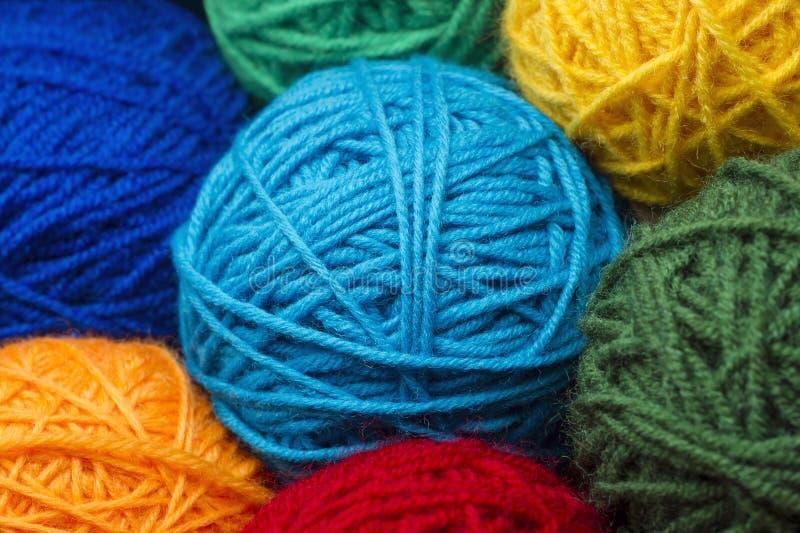 Woolen yarn balls stock photography