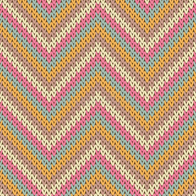 Woolen zigzag chevron strepen kerstmessen stock illustratie