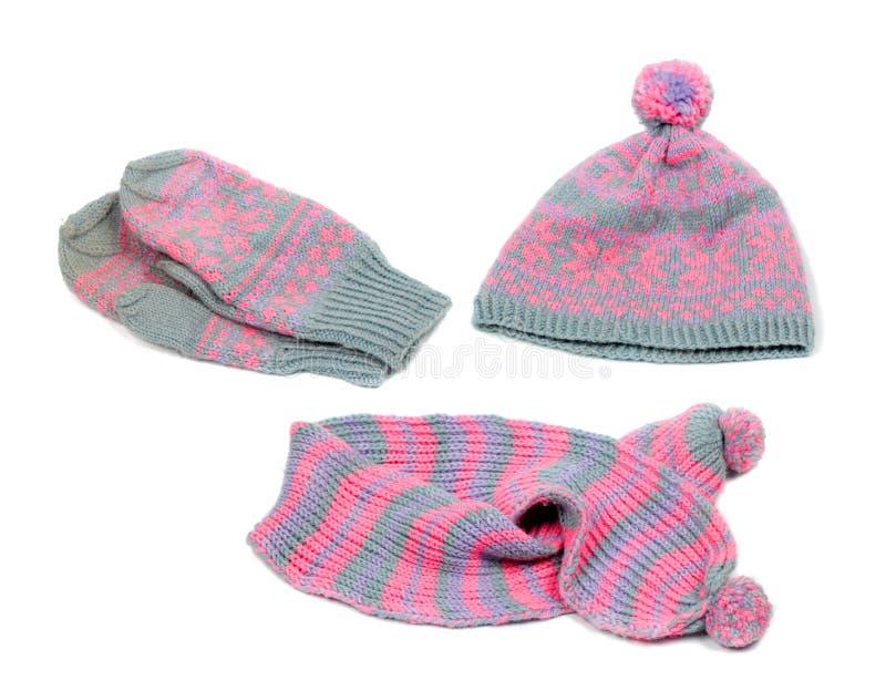Woollen set för vinter royaltyfri bild