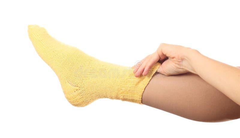 Woollen sock. stock photography