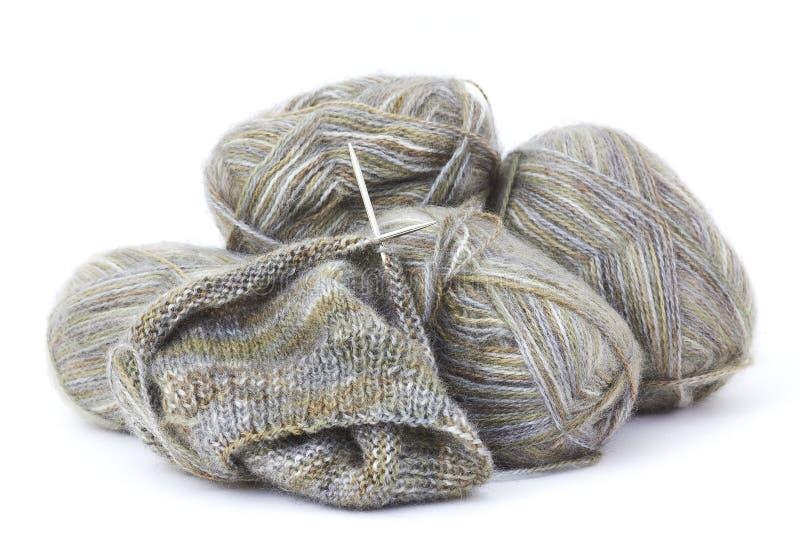 woollen stickatråd arkivfoto