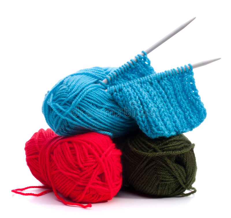 woollen stickatråd arkivfoton