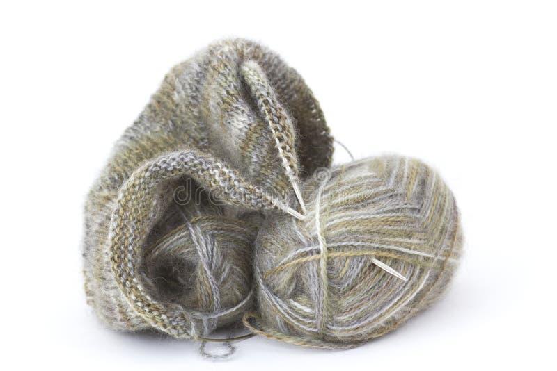 woollen stickatråd royaltyfri bild