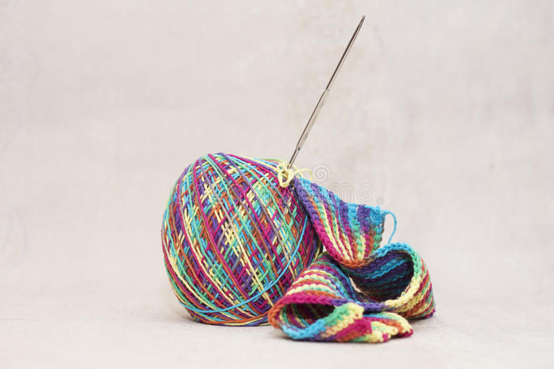 Download Woollen Thread And Knitting Needle. Needlework Accessories Stock Image - Image: 35347843