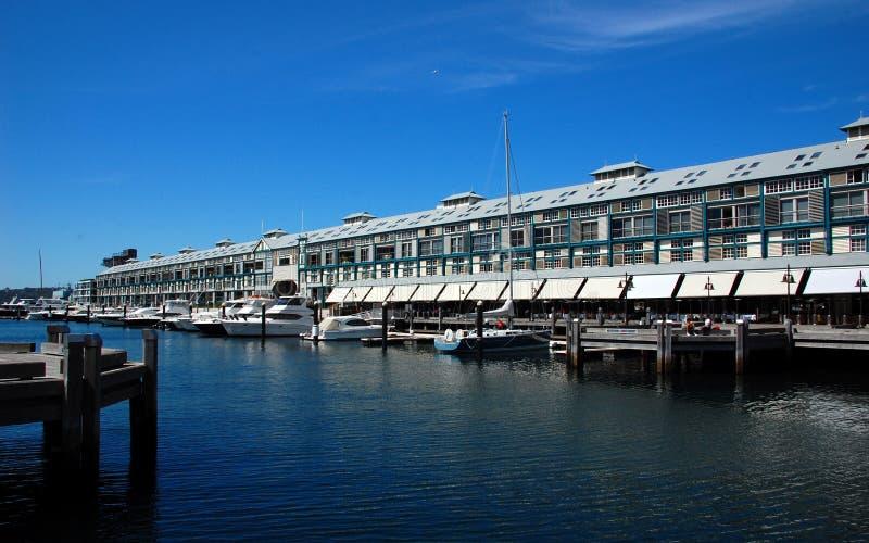 Woolloomooloo海湾在悉尼,澳大利亚。 库存图片