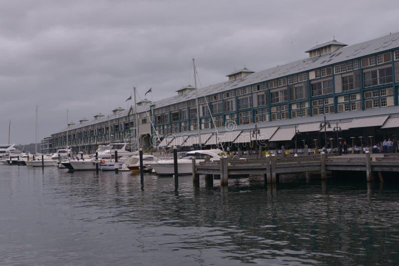 Wooloomooloo hamnplats, Sydney, Australien royaltyfri foto