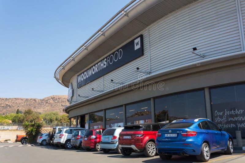 Woolworths-Lebensmittelgeschäft in Roodepoort, Johannesburg stockfotografie