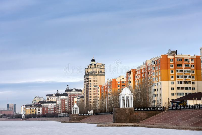 Woon complex in Astana stock foto