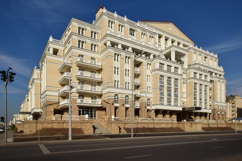 Woon complex MILAAN QUARTIERE in Astana stock afbeelding