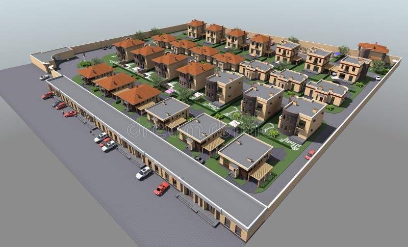 Woon 3D huis vector illustratie