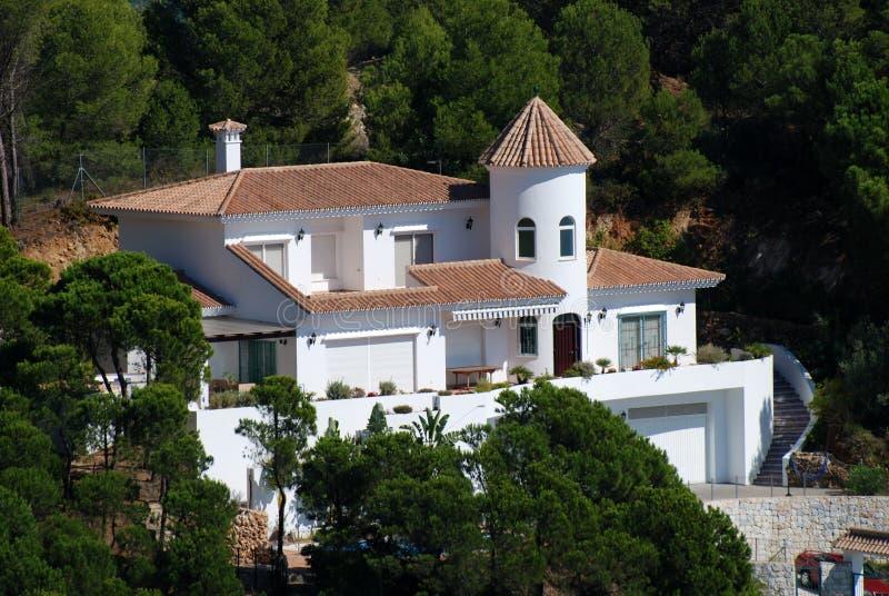 Woon huis in Spanje royalty-vrije stock afbeelding