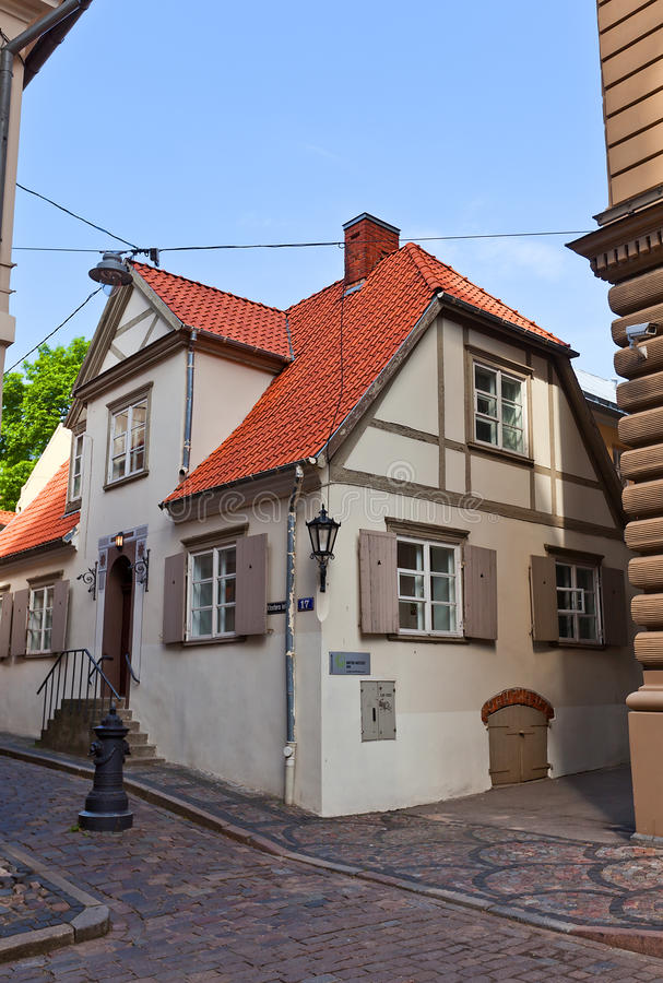 Woonhuis (XVIII c ) in Riga, Letland royalty-vrije stock foto's