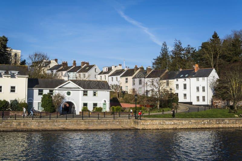 Woonhuizen, Exeter, Devon, Engeland, het Verenigd Koninkrijk royalty-vrije stock foto's