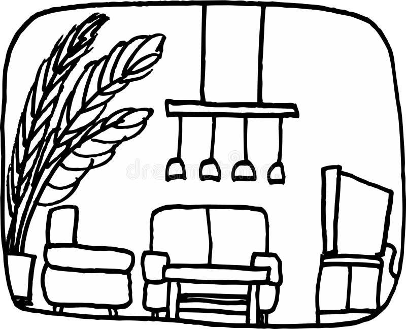 Woonkamer stock illustratie