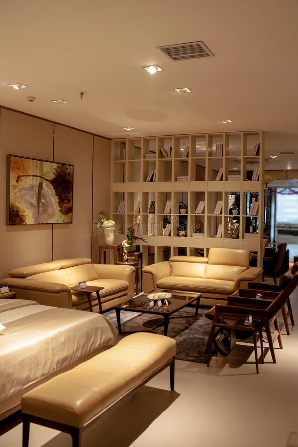 Woonkamer en meubilair stock afbeeldingen