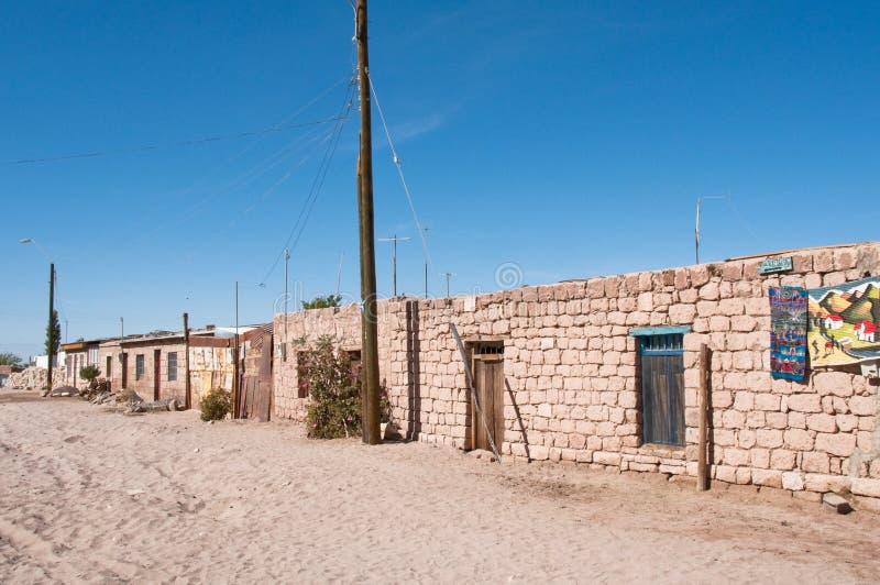 Woonplaatsen in de voorstad van Toconao (Chili) royalty-vrije stock foto