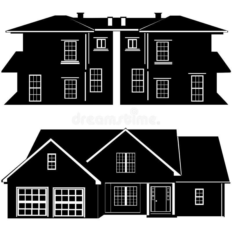 Woonplaatsen die vector bouwen vector illustratie
