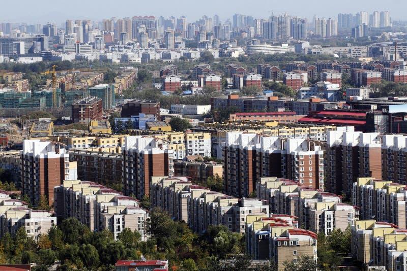 Woonwijk op grote schaal stock foto's