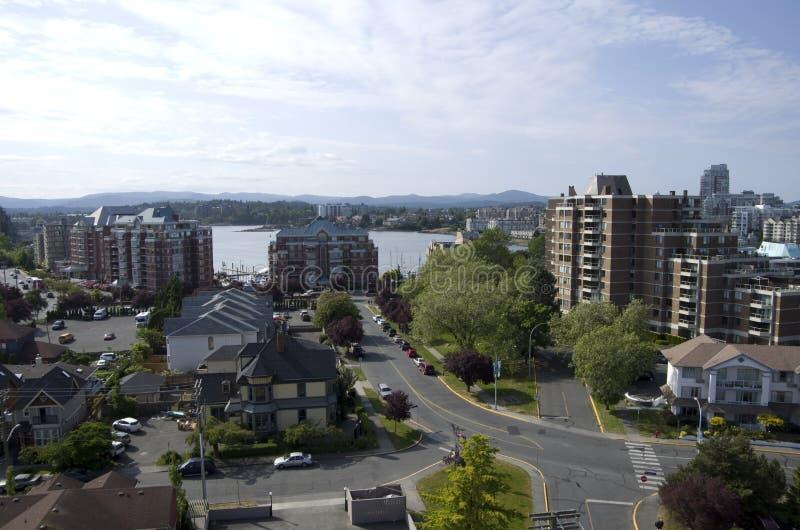 Woonwijk van Victoria BC stock foto's