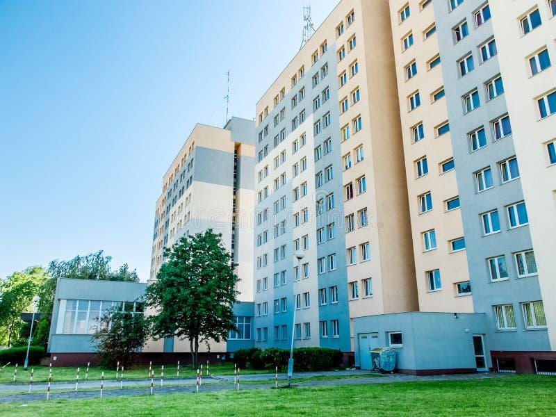 Woonwijken in Polen royalty-vrije stock afbeelding