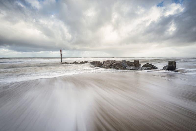 Woooosh Warenkorbabstand Norfolks Großbritannien lizenzfreies stockbild