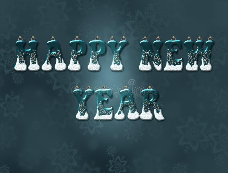 Woorden gelukkig nieuw jaar vector illustratie