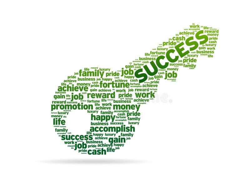 Woorden - Sleutel tot Succes vector illustratie